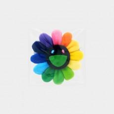 Flower Key Chain Rainbow & Black