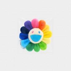 Flower Key Chain Rainbow & White