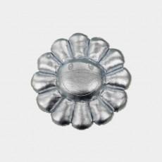 Flower Cushion 30cm Silver