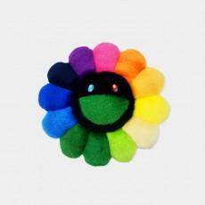 Flower Cushion 30cm Rainbow & Black