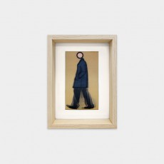 [SOLD OUT] Jeremy walking in coat, 2010 (Lenticular Postcard)